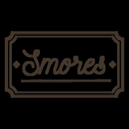 Smores label stroke