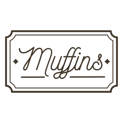 Muffins label stroke