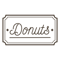 Donuts label stroke