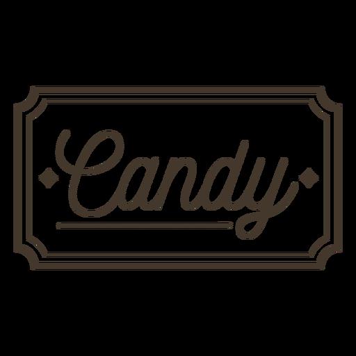 Candy label stroke