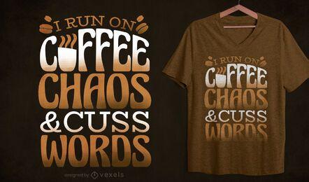 Diseño de camiseta divertida de cita de café