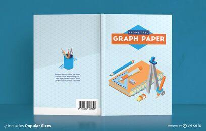 Design da capa do livro em papel quadriculado