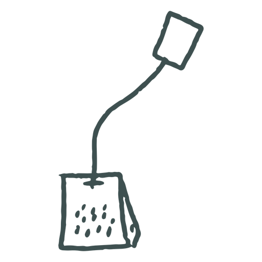 Single tea teabag doodle