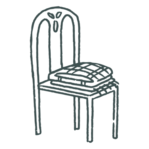 Chair with folded clothes doodle