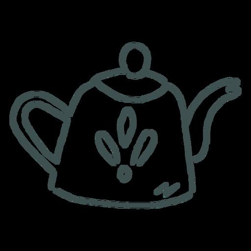 Simple tea pot doodle