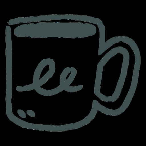 Coffee and tea mug doodle