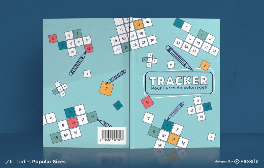 French tracker colouring book cover design