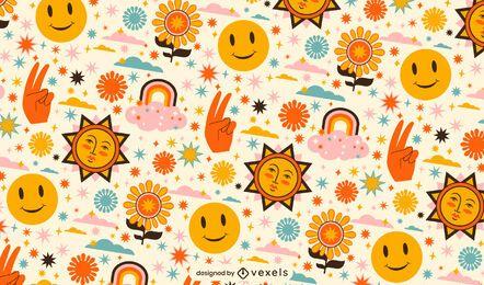 Diseño de patrón de naturaleza feliz día de la paz