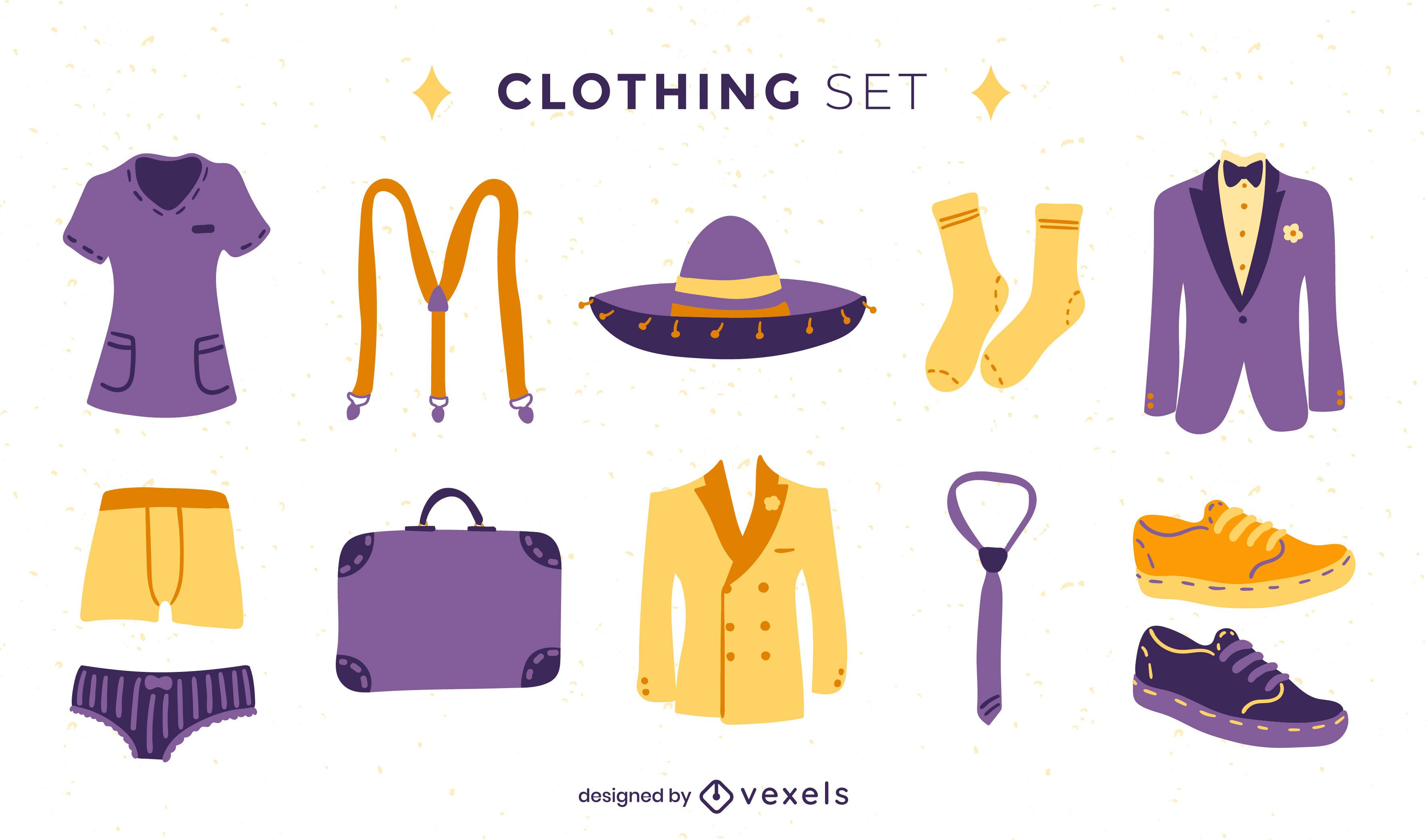 Conjunto de ropa formal de moda para mujer.