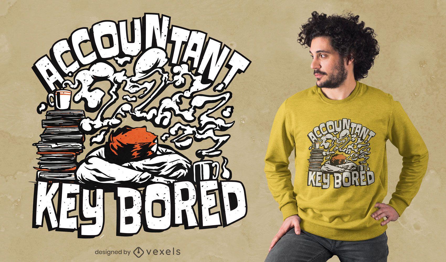 Diseño de camiseta de cita de contador cansado