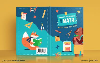 Math learning book for kids cover design