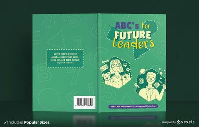 Coloring book for children cover design