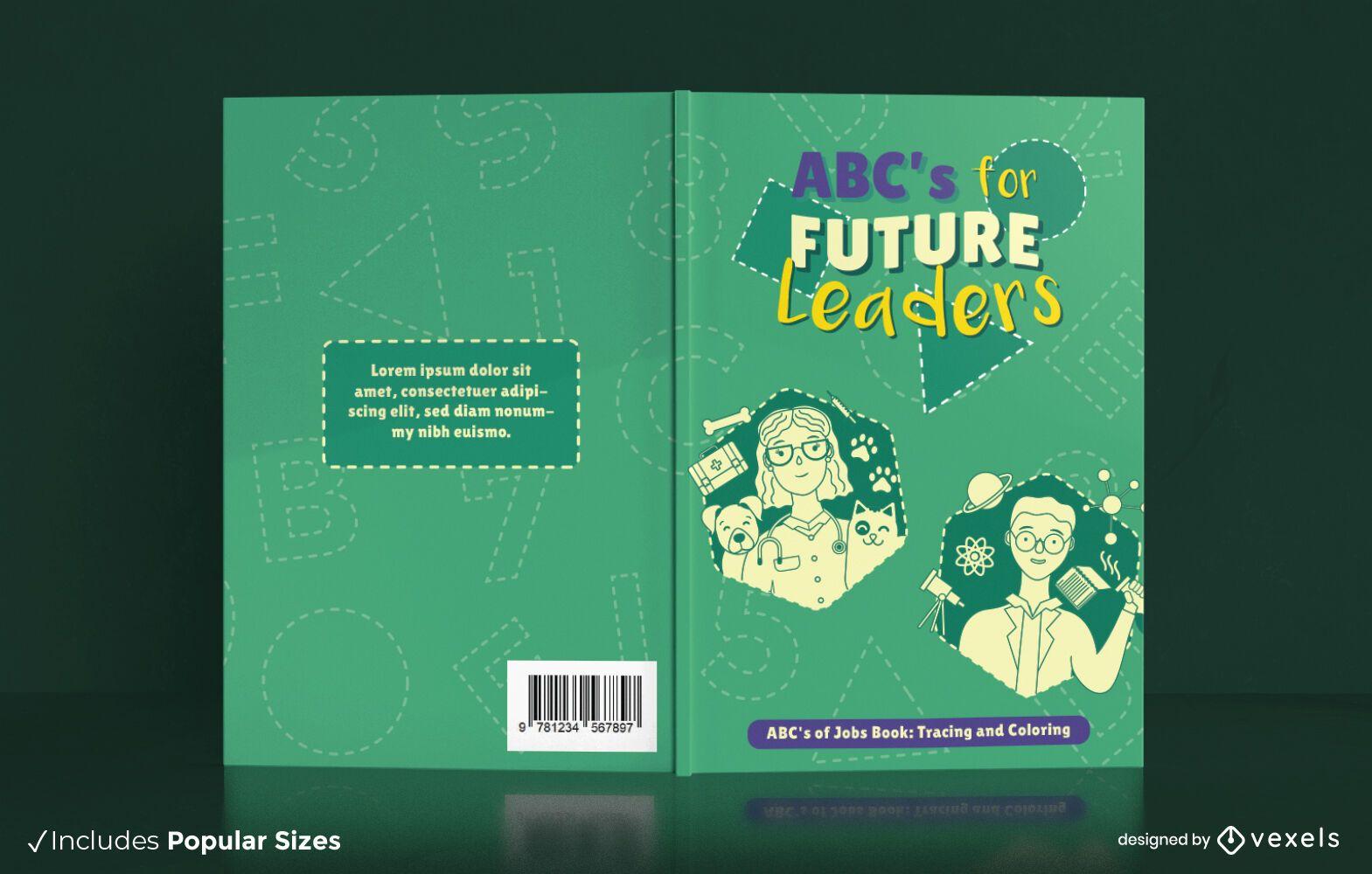 Livro de colorir para crianças capa design