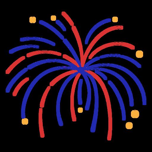 Firework simple stroke