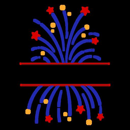Firework stroke editable text badge