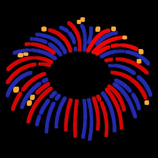 Firework stroke editable badge