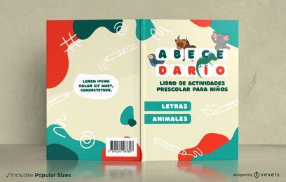 Projeto da capa do livro de atividades para crianças em idade pré-escolar