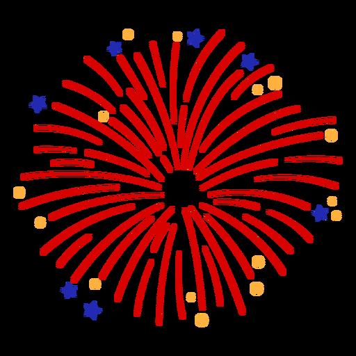 Simple red firework stroke