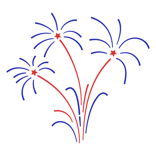 Small blue fireworks stroke