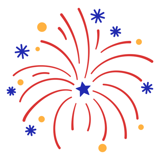 Colorful red firework stroke