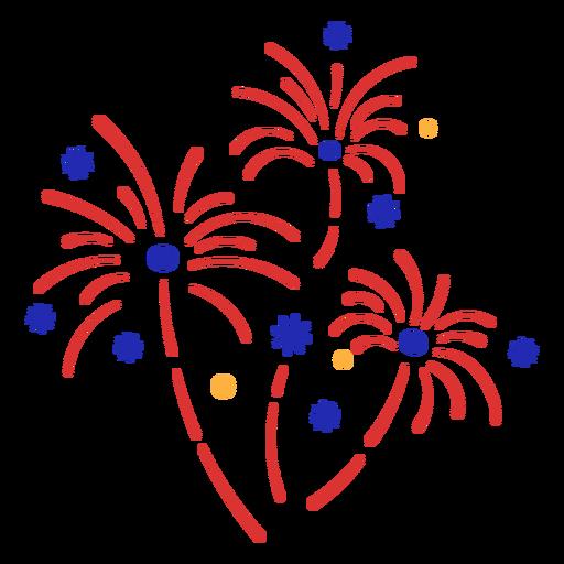 Red fireworks stroke simple