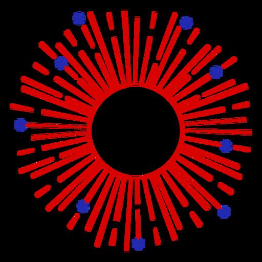 Simple editable center fireworks