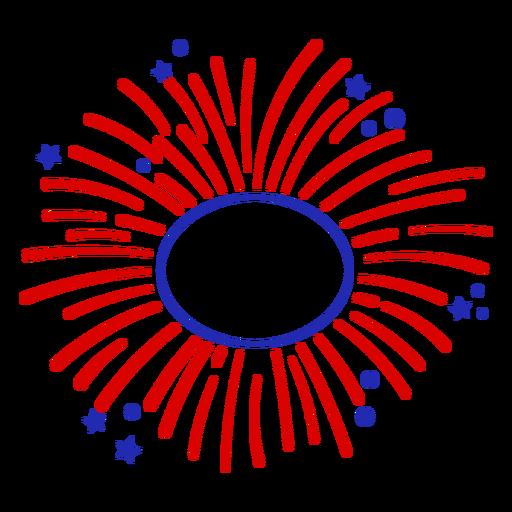 Editable center fireworks stroke