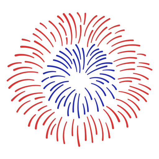Red and blue fireworks stroke