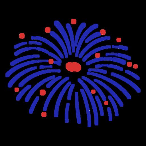 Blue fireworks stroke element