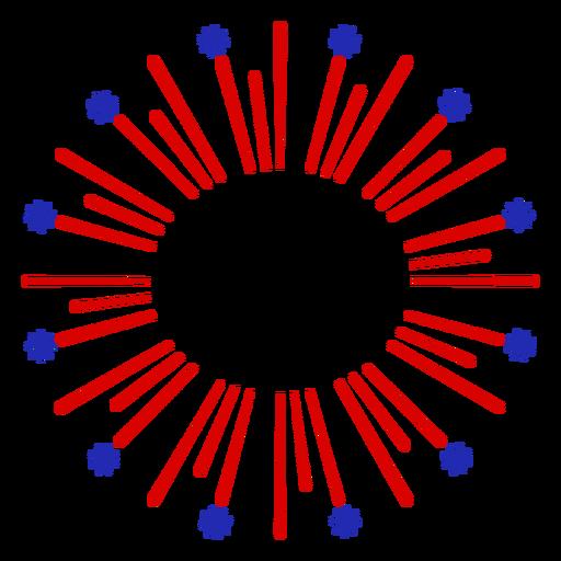 Simple firework editable center stroke