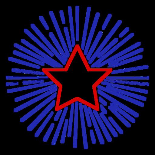 Star firework stroke