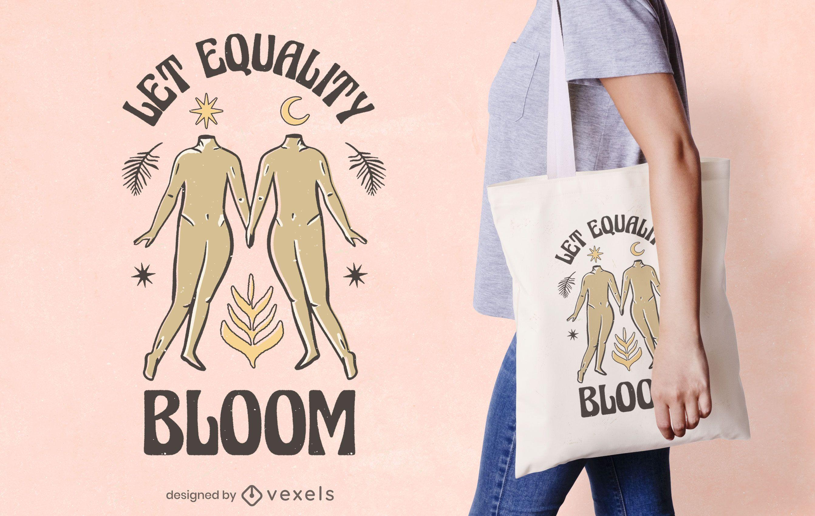 Bolsa de tela día de la paz vacaciones igualdad
