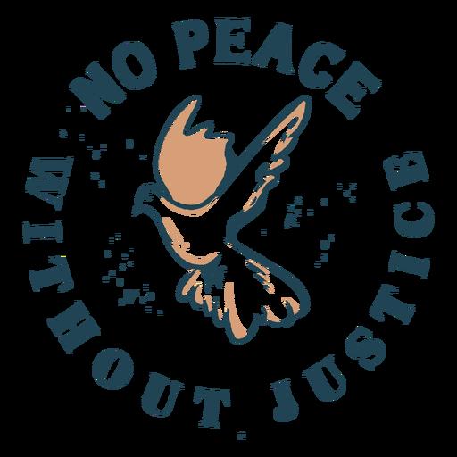 Peace and justice dove quote color stroke