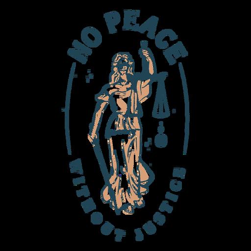 No hay paz sin justicia citar trazo de color