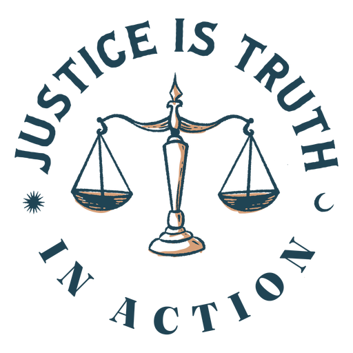 Justice is truth quote color stroke