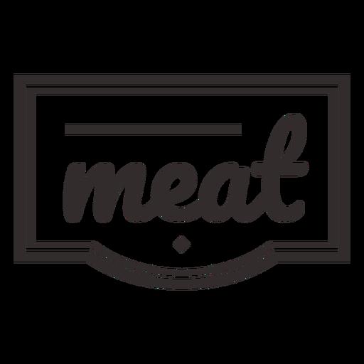 Meat text lettering label stroke