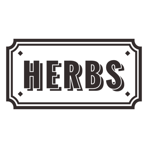 Cooking herbs food label