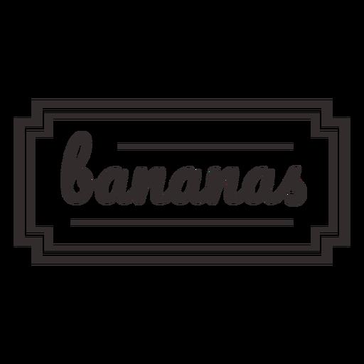 Bananas stroke text label