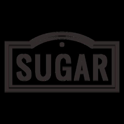 Sugar text label stroke