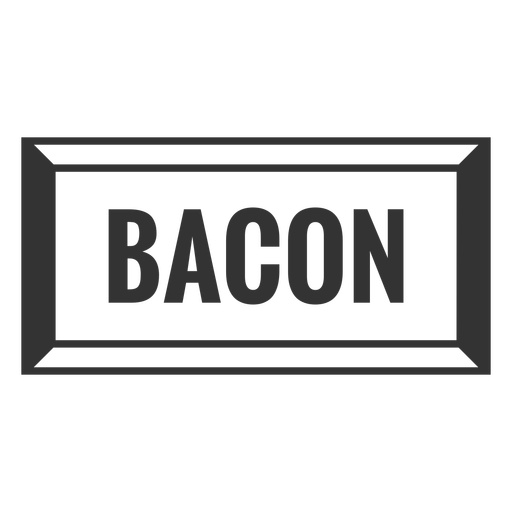 Bacon text label filled stroke