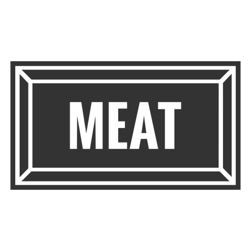 Meat text label cut out