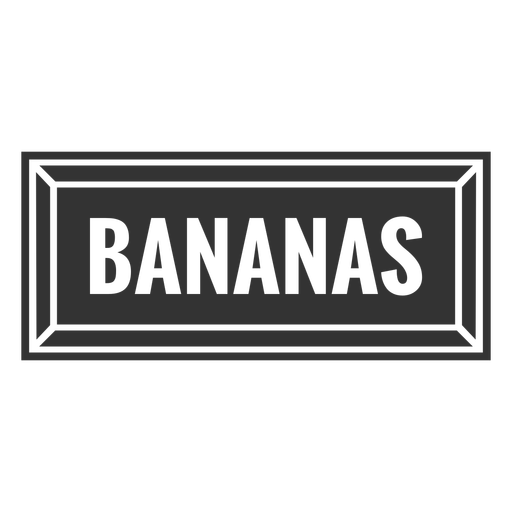 Bananas text label cut out