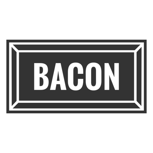 Bacon text label cut out