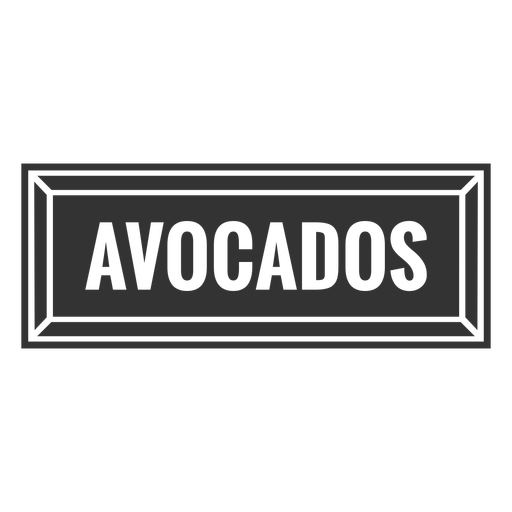 Avocados text label cut out