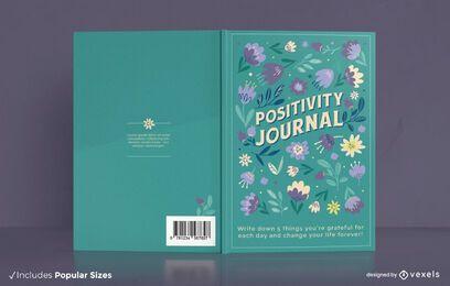Design da capa floral do jornal positividade
