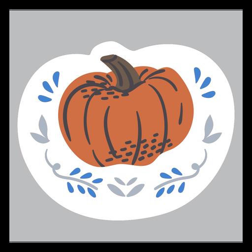 Ornamented pumpkin color doodle