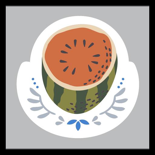 Ornamented watermelon color doodle