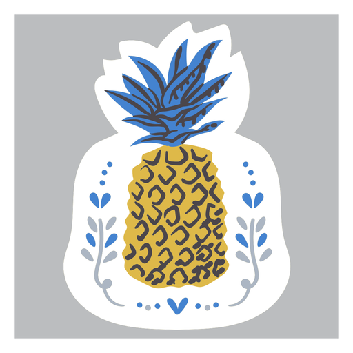 Ornamented pineapple color doodle