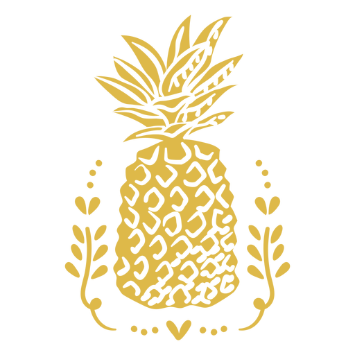 Ornamented pineapple cut out