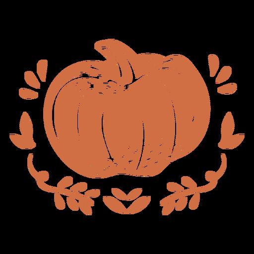 Ornamented pumpkin cut out
